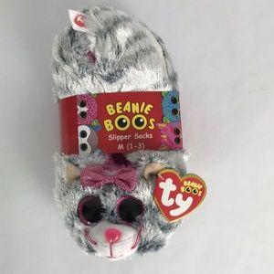KiKi Ty Beanie Boos Slipper Socks Medium (1-3)